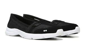 New Ryka Jenny Black/Grey Size 7 US Casual Slip on Sneaker