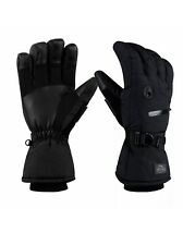 CAMYOD Waterproof Ski Snowboard Gloves with 3M Thinsulate Zipper Pocket Air Vent