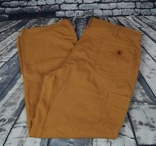 Carhartt B11 Washed Duck Work Dungaree Pants Cotton Canvas Brown Mens 40 x 30