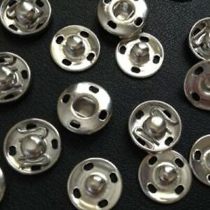 12 POPPERS SNAP BUTTONS FASTENERS PRESS STUD SEWING RIVET CRAFT FABRIC CLOTHING