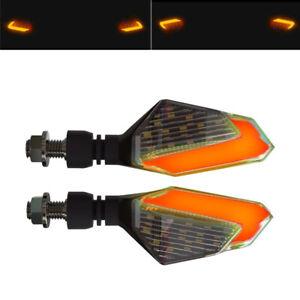 2PC 12V Power Motorcycle Bike Turn Signal LED Light Daytime Running Lamp Parts