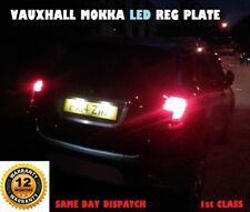 VAUXHALL MOKKA LED BULBS NUMBER LICENSE REG PLATE T10 W5W WHITE 1yr  Warranty