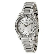 NIB CARAVELLE by BULOVA 43L113 Crystal Accented Silver Tone Ladies Watch