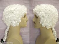 George Washington Medium Curly White Color Costume Men's Wig