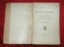 Libro Menti e Caratteri Giuseppe Tarozzi Monoteismo Senofane Poesie Campanella