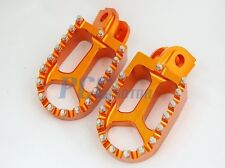 CNC RACING FOOTPEGS FOOTREST 1998-2012 KTM 65-990 Dirt Bike ORANGE I FP13
