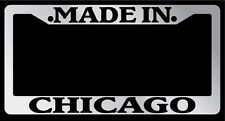 Chrome METAL License Plate Frame Made In Chicago Auto Accessory