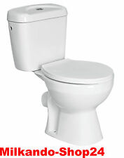 Design Stand Wc Toilette komplett set Spülkasten KERAMIK Inkl. Wc Sitz kombi.
