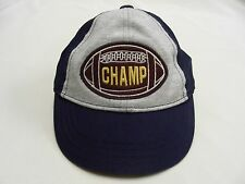 GYMBOREE - CHAMP - FOOTBALL - 12-24 MONTHS SIZE - ADJUSTABLE BALL CAP HAT!