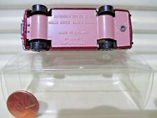 LESNEY MATCHBOX MB24A Red ROLLS ROYCE SILVER SHADOW PINK Base Mint in Nu PVC Box