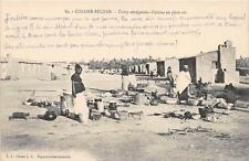 CPA ALGERIE COLOMB BECHAR CAMP SENEGALAIS CUISINE EN PLEIN AIR