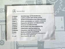 Original Mercedes C-Klasse Funkschlüssel Broschüre für Bordbuch