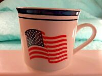 "AMERICAN FLAG  Coffee Mug  Tea Cup 3"" Tall"