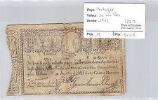 Portugal 20 000 Reis 1799 N° 757651 Pick 15