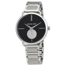 Michael Kors Portia Black Dial Ladies Stainless Steel Watch MK3638