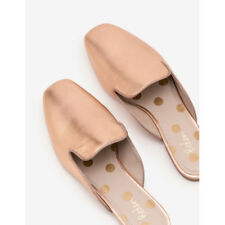 Boden Poppy Backless Loafers Womens Shoe Size Ladies BOOTS Rose Gold