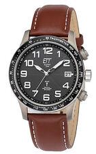 Ett eco Tech Time Solar drive radio reloj hombre Aviation II egt-11276-22l