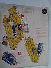 Vintage Meccano manuel d'instructions boite construction N°5 parfait etat.