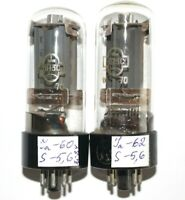 NEW MATCHED PAIR 6P3S (6П3С) SOVIET VACUUM TUBES  FOTON AND REFLECTOR FACTORIES