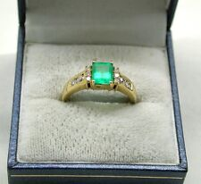 Superb Designer 18ct Gold Emerald And Diamond Ring By Iliana