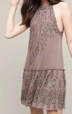 Anthropologie Beaded Halter Dress by Love Sam-L