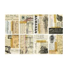8x Vintage Paper Pad Scrapbooking Single-sided Cardstock DIY Junk Journal Decor