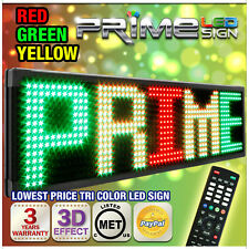 "30mm TriColor 60""X22"" Programmable LED Sign Scrolling Message Display Out/Indoor"
