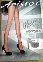 2 X ARISTOC CATWALK TRENDS NUDE / GOLD SPARKLE PATTERNED TIGHTS S/M XMAS PARTY