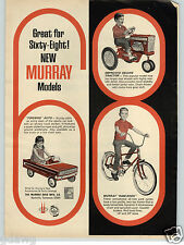1968 PAPER AD Murray Firebird Pedal Car Improved Farm Tractor Ram Rod Bicycle