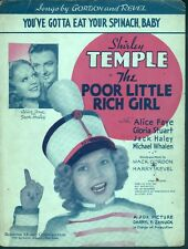 You've Gotta Eat Your Spinach Baby 1936 Shirley Temple Poor Little Rich Girl