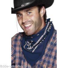 Bandana BLU FIOCCHETTO Wild West Cowboy Cowgirl Costume Gallina Addio Al Celibato Accessorio