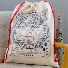 """Personalised Traditional Christmas Design """"ANY NAME"""" Santa Present Sack Bag"""