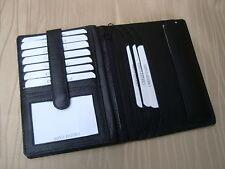 *LEDER Brieftasche-schwarz-Dolphin Kollektion-für anspruchvollen Herren/Dame