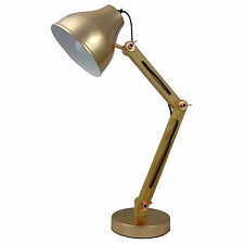 Desk Lamp Stylish Timber Arms With A Metal Shade French Gold IT013A