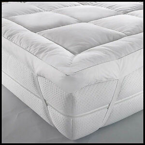 Luxury Duck Feather & Down Mattress Topper Mattress Cover Available In All Sizes