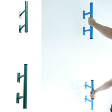 Set of Steel Bars For Human Flags and Callisthenics Training in Green or Blue