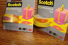 #2 Rolls Scotch Expressions MatteTape / Decorating,Crafts Multi-Color Sherbert