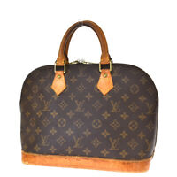 Authentic LOUIS VUITTON LV Alma Hand Bag Monogram Leather Brown M51130 37MH190