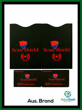 Scan Shield Advanced Protection Traveler's Pack (2 CARDS, 2 SLEEVES) **All New**