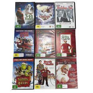 Christmas Dvd Lot Of 9 Santa Clause, Winter Wonderland, Shrek, Deck the Halls