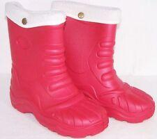 sehr leichte Winterstiefel Stiefel gefüttert  Rot 34/35 Gummistiefel Wasserdicht