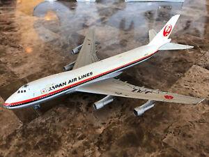 Vintage 1970's Aero Mini Boeing 747 Japan Airlines JAL Diecast Model JA8100