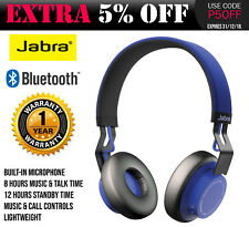 Jabra Move Wireless Bluetooth Headphones For Samsung S8 S8+ Iphone 7 Plus Blue