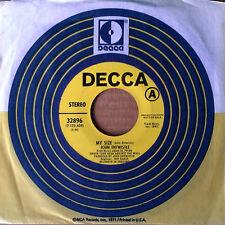 JOHN ENTWISTLE (X-WHO) - MY SIZE b/w I BELIEVE IN EVERYTHING - DECCA - PROMO 45