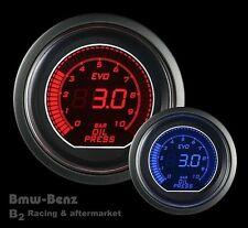 52mm Digital LED Evo Series Electrical Metric Oil Pressure Gauge Red/Blue -BAR