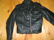 1970's AMF Harley-Davidson Black Leather Jacket Sz 38R Made in USA used