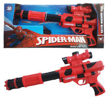 MARVEL SPIDER-MAN CRYSTAL WATER BALL GUN & SOFT BULLET NERF GATLIN RIFLE KID TOY