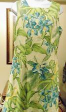 Tommy Bahama Women;'s Floral Print 100% Silk Dress Lined Zipper Back Sz 12