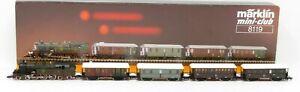 Marklin 8119 Z Scale Gauge Steam Passenger Train Set NIB