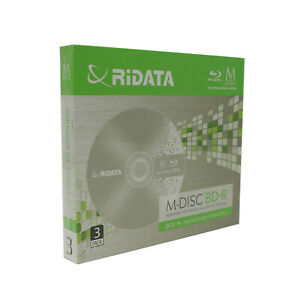 3 Pack Ridata M-Disc BD-R 25GB 4X HD 1000 Year Permanent Recordable Blank Disc